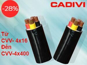 Cáp Cadivi 3 Pha 4 Lõi CVV-0.6/1kV